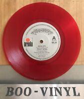 "KROKUS - ROCK CITY ORIGINAL ( RED ) 7"" VINYL SINGLE PICTURE SLEEVE Vg+"