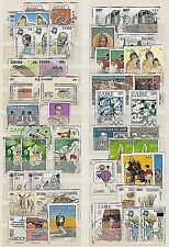 ZAIRE 1970'S - 1980'S LOT / COLLECTION OF 47 STAMPS - PRES MOBUTU - OLYMPICS