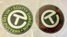 """2 NWT SCOTTY CAMERON GALLERY CIRCLE T Stickers Red & Lime 3"""" Milled Putters Tour"""