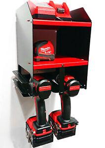 Milwaukee Cordless Power Tool Drill Impact Driver Storage Unit Shelf Tidy Store
