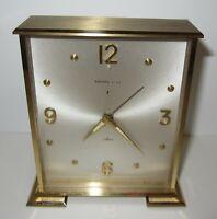 Tiffany & Co Desk Alarm Clock 8-Day, 7 Jewels Mechanical Wind up