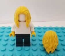 New Lego Hair Yellow Blonde Wavy Curly Long Over Shoulder AQUAMAN Center Part