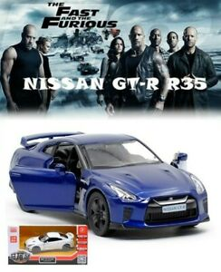 NEW 1:36 FAST & FURIOUS NISSAN GT-R R35 VEHICLE MODEL COLLECTION DIECAST CAR TOY