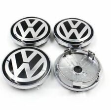 Set 60mm Black Alloy Wheel Center Caps Logo Emblem for VW Golf Passat Polo