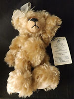 "Cute 8"" German Mohair EMILY Teddy Bear Jointed Glass Eyes Memory Maker's Inc."