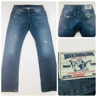 True Religion Mens Size 30 World Tour Straight Fit Jeans 30x33 RN#112790