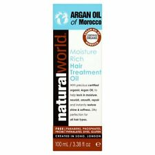 Natural World Argan Oil of Morocco Moisture Rich Hair Treatment Oil 100Ml