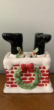 Santa Legs Stuck in Chimney Salt & Pepper Shaker Set Giftco Christmas Kitchy
