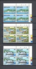 ST LUCIA 1984 SG 690/8 MNH Blocks of 4 Cat £120