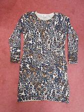 BNWOT CC Petite Animal Print Angora Jumper Dress Size Small