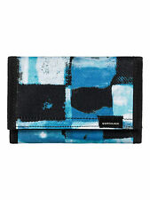QUIKSILVER MENS WALLET.EVERYDAILY BLUE TRIFOLD MONEY NOTE COIN PURSE 7W 530 BQSO