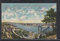 HUN 35761) AK Budapest Totalansicht mit der Donau 1916