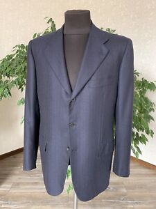 KITON Mens Blazer Jacket 100% Cashmere Blue Size 52 L