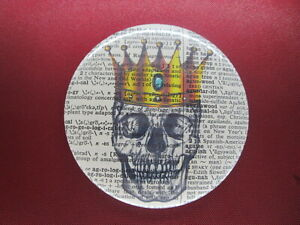 Skull With Crown Fridge Magnet No.811, horror writer gifts, halloween gifts