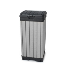 Keter Outdoor Waste Bin Weather Resistant Double Wall Enclosure 39 Gal. Plastic