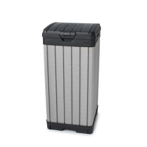 Keter Outdoor Waste Bin Weather Resistant Double Wall Enclosure 39 Gal. Plastic