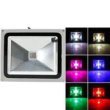 30W RGB LED Flood Light Outdoor Spotlight Lamp Waterproof w/ IR44 Remote Control