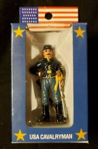 CIVIL WAR UNION US CAVALRY MAN - Historic Hand Painted Metal Toy Soldier