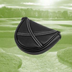 Izzo Golf Premium Black PU Leather Magnetic Closure Putter Cover