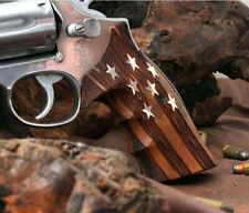Smith&Wesson k&L Frame grips made of walnut wood with your custom silver logos