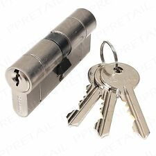 40mm x 60mm EURO BARREL ANTI SNAP/DRILL/PICK/BUMP DOOR LOCK & KEYS High Security