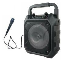 Party Speaker System BLUETOOTH Big Led Portable Stereo Tailgate Loud Karaoke MIC