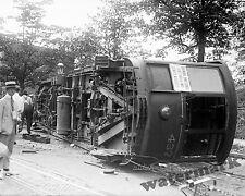 Photograph Vintage Streetcar Accident Washington DC 1919c  8x10