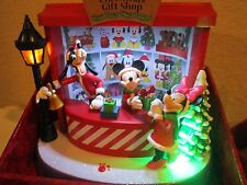 DISNEY MICKEY MINNIE MOUSE & GOOFY CHRISTMAS GIFT SHOP MUSIC ANIMATED NIB