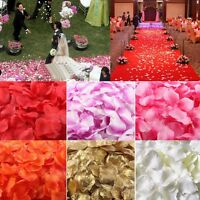100/1000pcs Silk Flower Rose Petals Wedding Party Table Confetti Decorations NEW