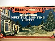 Xmas 24 1930 Indoor & Outdoor Multiple Lighting Outfit Christmas Light Box, Empt