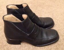 LADIES GENUINE LEATHER ANKLE BOOTS - EXCELLENT CONDITION
