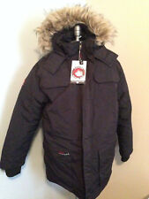 CANADA WEATHERGEAR Mens XL Heavy Black Faux GOOSE DOWN COAT JACKET Fur Hood NWT