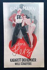 2.WK KABARETT DER KOMIKER VARIETÉ PROGRAMM Berlin August 1942 Theater WW2