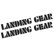 BMX LANDING GEAR STICKERS 200x21mm 2X STICKERS AVAILABLE IN LOTS OF COLOURS