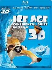 Ice Age: Continental Drift 3D (Blu-ray Disc, 2012, Canadian) No Digital Copy