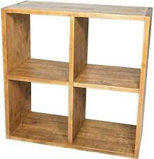 NEW SOLID REAL WOOD QUAD CUBE BOOKCASE DISPLAY CHUNKY RUSTIC PLANK PINE FURNITUR