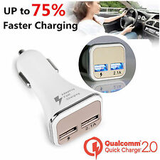 Cargador Mechero Coche 2 puertos usb for iPod iPhone Samsung S5 S6 Fast Charge