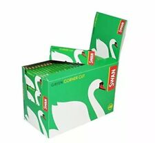 100X SWAN GREEN STANDARD GENUINE SMOKING CIGARETTE ROLLING PAPERS NEW REGULAR UK