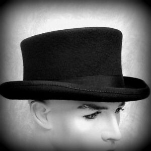 Old West low crown topper top hat 100% wool felt highquality hat unisex S-XL NEW