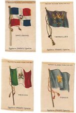 4 - Egyptienne Straights Cigarette National Flag Series Inserts Early 1910'S