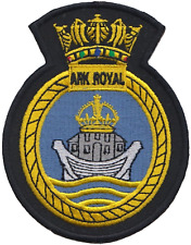 HMS Ark Royal Royal Navy RN Surface Fleet Crest MOD Embroidered Patch