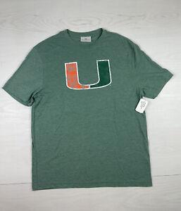 Fanatics Miami Hurricanes Mens Tee Shirt Size L