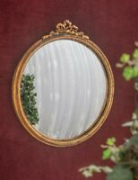 Victorian Trading Co Gilded French Ribbon Charmed Life Convex Wall Mirror