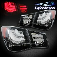 [BMW Style] 2010 2011 2012 2013 2014 2015 Chevy Cruze Black LED Tail Lights Pair