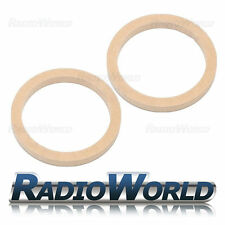 """6.5"""" 165mm MDF Speaker Spacer Mounting Rings 18mm Thick ID 144mm ED 177mm Pair"""