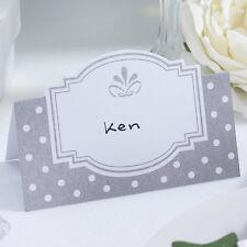 50 tavola segnaposto matrimonio bianco argento chic boutique nome Fidanzamento Festa