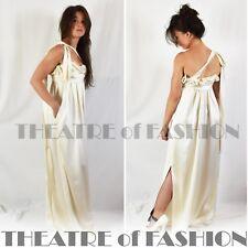 VIVIENNE WESTWOOD DRESS SILK WEDDING CORSET VINTAGE 20s 30s GODDESS GRECIAN VAMP