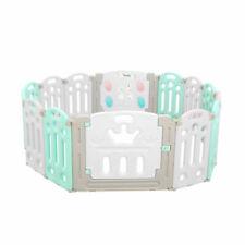 BoPeep Kids Playpen Baby Safety Gates 14 Panels - Multicoloured (PNBD1013-14-GR)