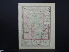 Wisconsin, 1876, County Map Double Sided, M1#27 Wood or Portage
