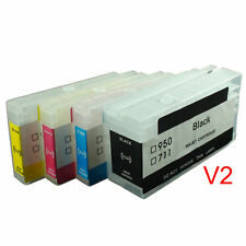 Empty Refillable Ink Cartridges SET For HP 711 Designjet T120 T520 Hp711